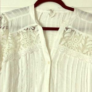 White ,lace,long tunic